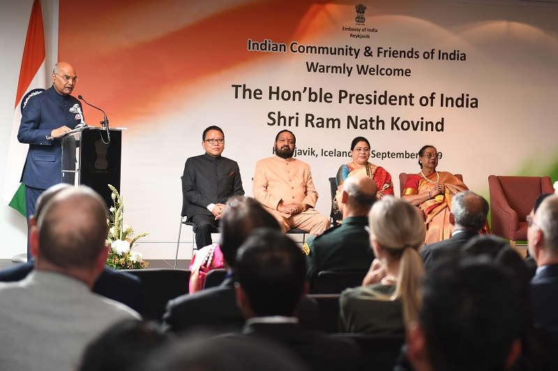 ADDRESS BY THE PRESIDENT OF INDIA, SHRI RAM NATH KOVIND AT THE INDIAN COMMUNITY